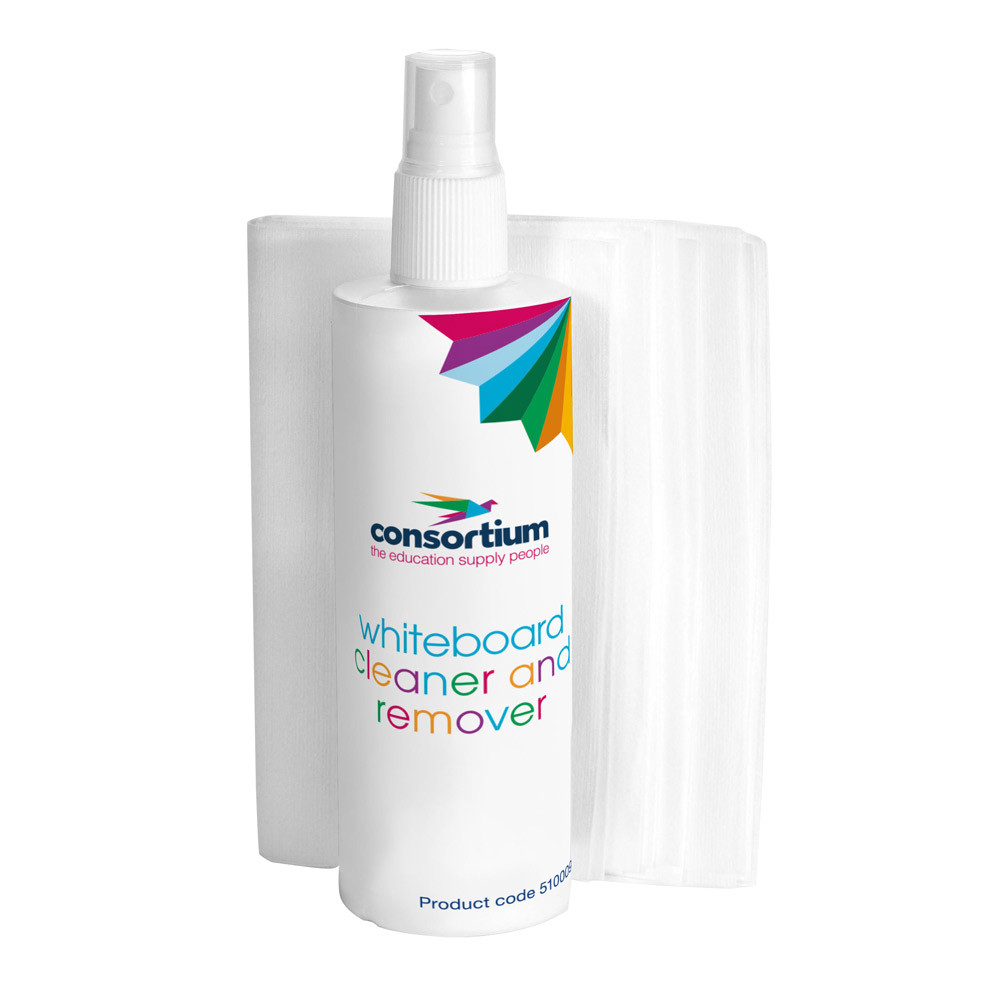 The Consortium Whiteboard Cleaner & Cloths