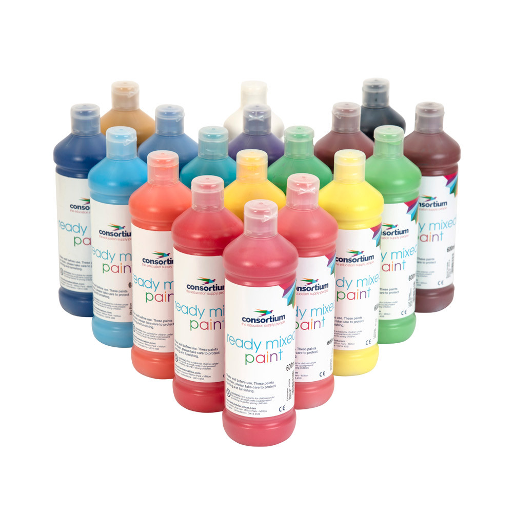 Consortium Ready Mixed Paint - Single Colours 600ml