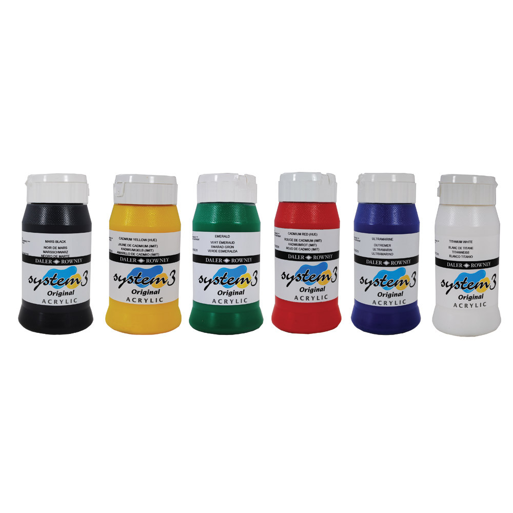 System 3 Assorted Acrylic Paint Pack