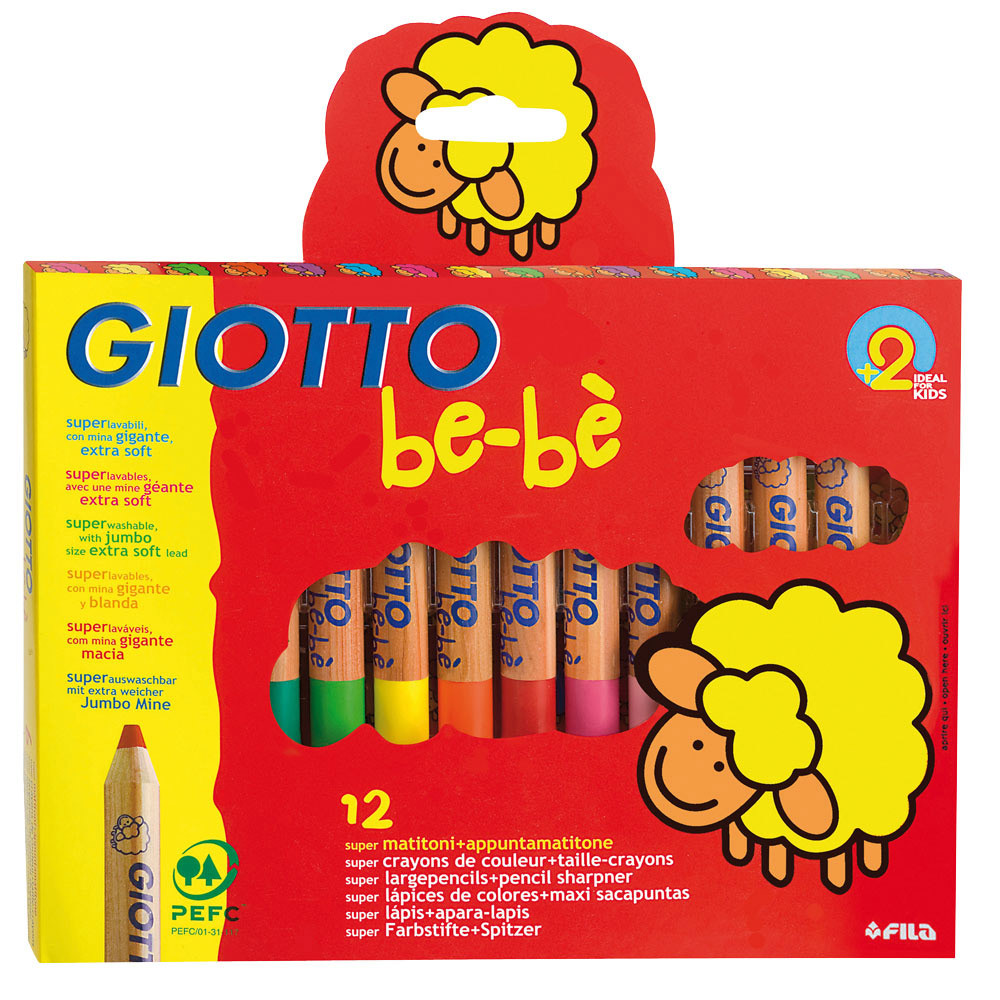 Giotto Be-Be Super Large Colouring Pencils