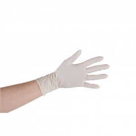 White Nitrile Powder Free Gloves