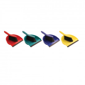 Colour Coded Dustpan & Brush Set