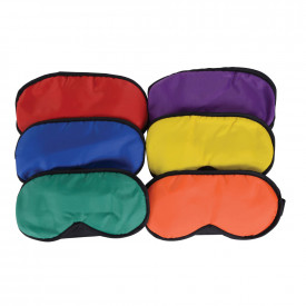 Rainbow Coloured Blindfolds 6pk