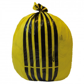 Yellow Tiger Stripe Clinical Waste Sacks