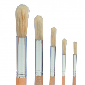 Hog Hair Round Head Brushes