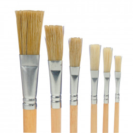 Hog Hair Flat Head Brushes
