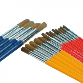 Golden Nylon Round Brushes Classpack
