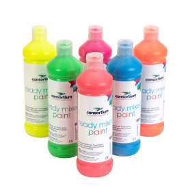 Consortium Fluorescent Ready Mixed Paint Pack