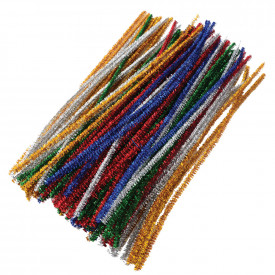 Coloured Tinsel Pipe Cleaners