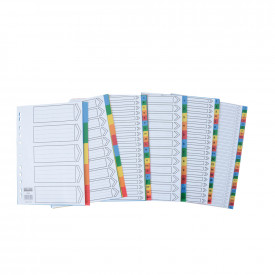 A4 Plastic Index Dividers