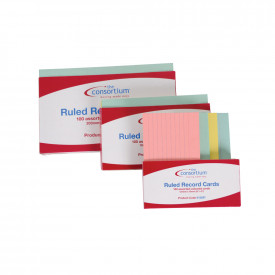 Consortium Ruled Revision Cards Assorted