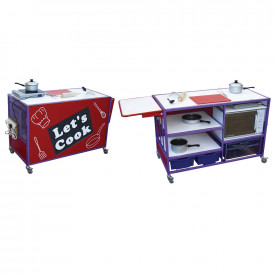 Cooker Trolley With Extending Table Unit