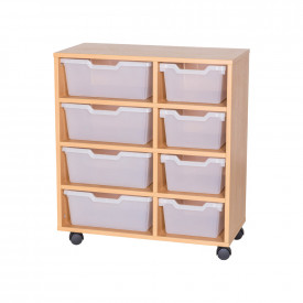 Assorted Cubby Tray Storage: 4 Tier with 8 Trays