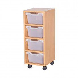 Cubby Tray Storage: 4 Tier with 4 Trays