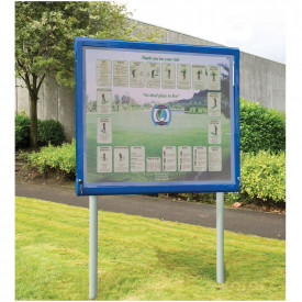 WeatherShield Freestanding Outdoor Showcase - Surface Mounted Posts
