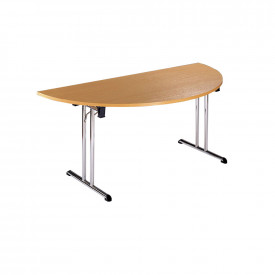 Semi-Circular Folding Leg Table