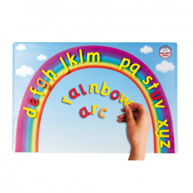 Magnetic Word Building Rainbow Arc