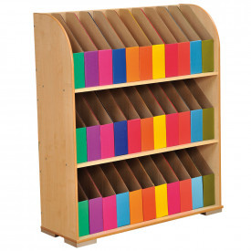 3 Shelf Foolscap Maple Bookcase