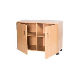 Double Shelf Mobile Cupboard