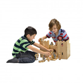 Natural Wooden Castle Play Set
