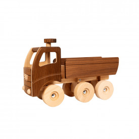 Large Natural Wooden Dump Truck