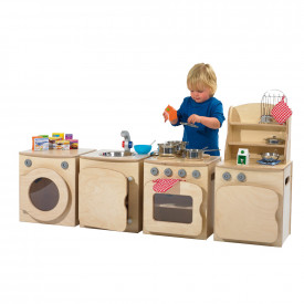 Natural Wooden Kitchen Set
