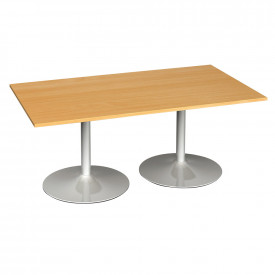 Rectangular Trumpet Base Boardroom Tables