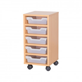 Cubby Tray Storage: 5 Tier with 5 Trays