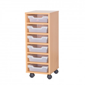 Cubby Tray Storage: 6 Tier with 6 Trays