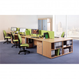 Straight Desk Mounted Screen Dividers