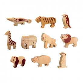 Natural Wooden Animals