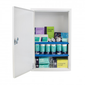 Stocked First Aid Cabinet