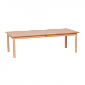 Large Rectangular Solid Beech Table