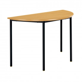 MDF Edge - Welded Frame Semi-Circular Table