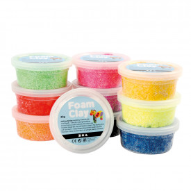 Foam Clay Assorted Colours