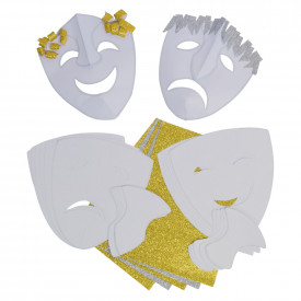 Make a Greek Comedy & Tragedy Mask