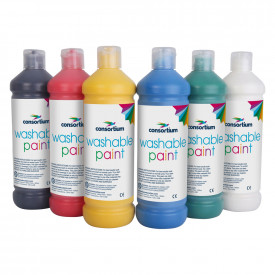 Consortium Washable Ready Mixed Paint Standard Colours