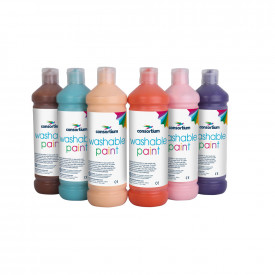 Consortium Washable Ready Mixed Paint Mixed Colours