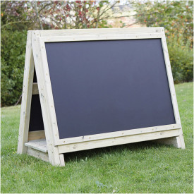 Toddler's Outdoor Wooden Floor Easel