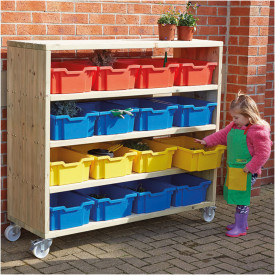 Large Outdoor Mobile Shelving Unit