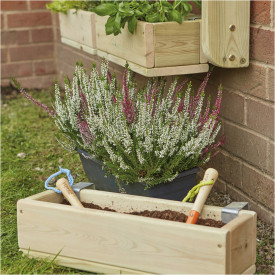 Individual Wooden Planters