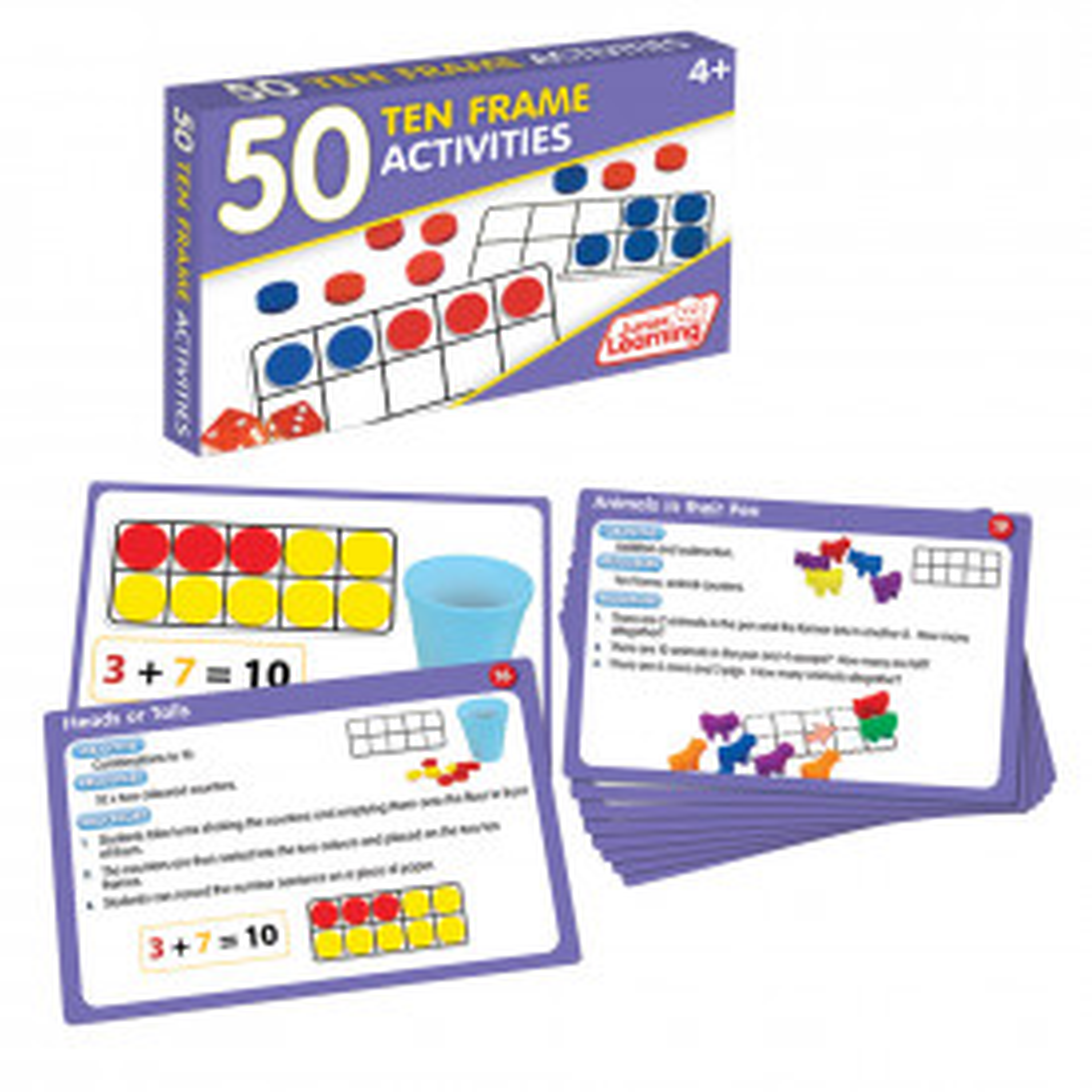 50 Ten Frame Activity Cards