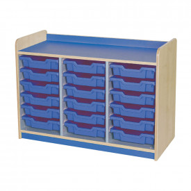 Triple Column 18 Tray Shallow Unit