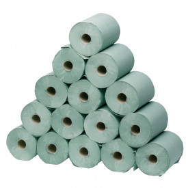 Hygiene/Couch Rolls Small Green 1 Ply