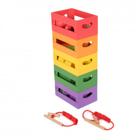 Wooden Fruit and Vegetable Sorting Set