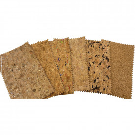 A4 Cork Sheets Assorted Grain