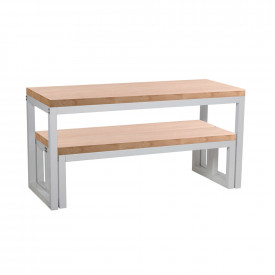 Cube Dining Table & Bench