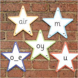Letter & Sounds Outdoor Stars