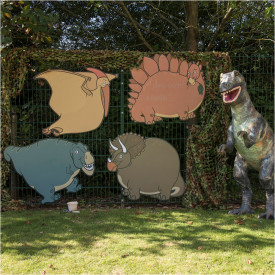 Outdoor Dinosaur Chalkboards