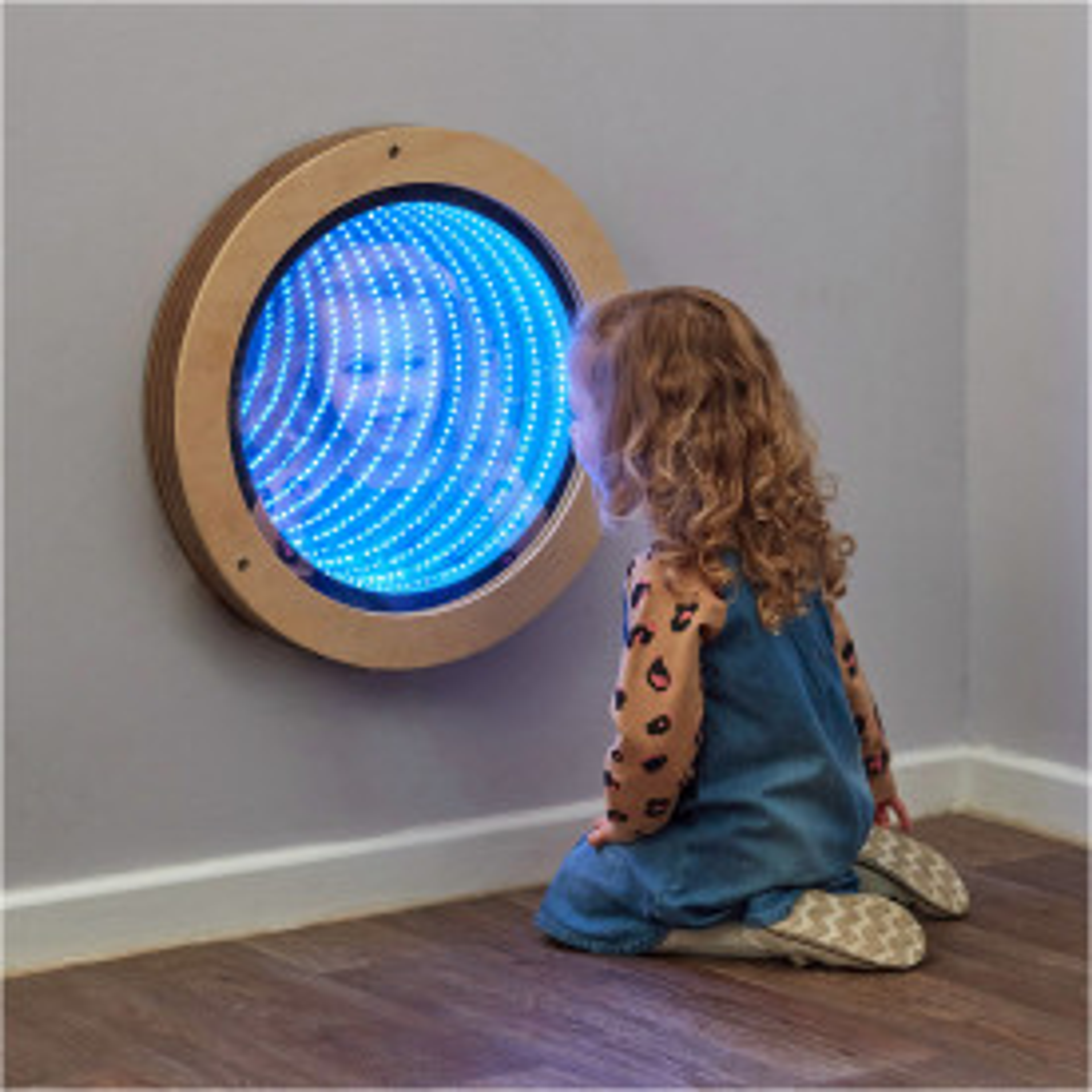 Light Up Circular Infinity Mirror